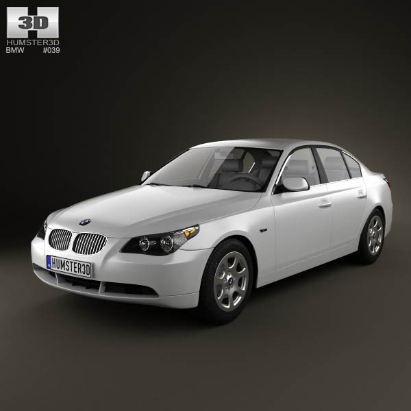 BMW 5 Series Sedan E60 2010 3d car model