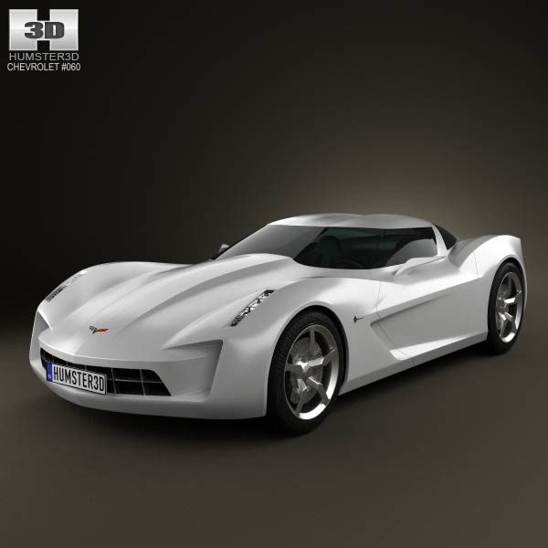 Chevrolet Stingray concept 2009 3d car model