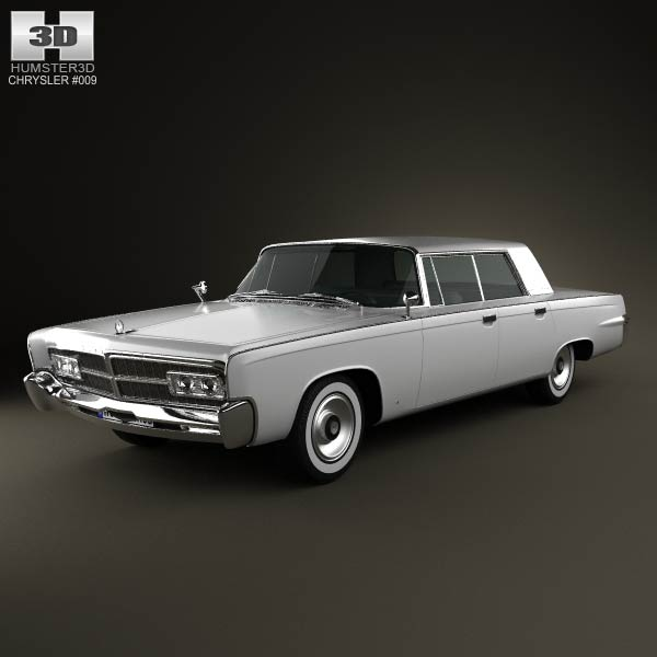 Chrysler Imperial Crown 1965 3d car model