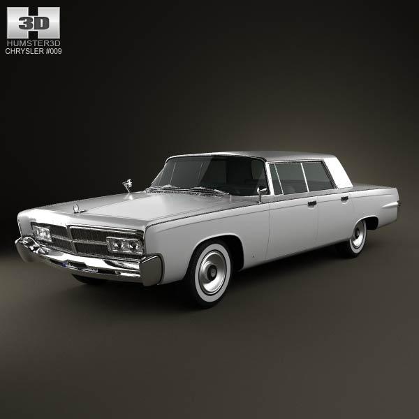 Chrysler Imperial Crown 1965 3d car model