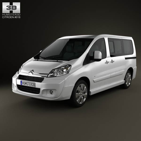 3D model of Citroen Jumpy Combi L1H1 2011
