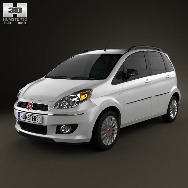 Fiat Idea 2012 3d car model
