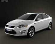 3D model of Ford Mondeo sedan Mk4 2011