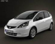 3D model of Honda Fit (Jazz) Base 2012