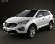 3D model of Hyundai Santa Fe 2012
