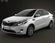 3D model of Kia Rio (K2) Sedan 2012