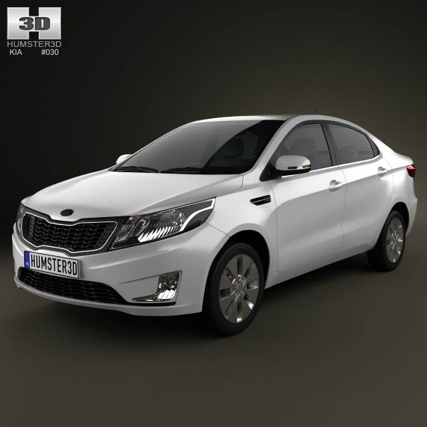 Kia Rio (K2) Sedan 2012 3d car model