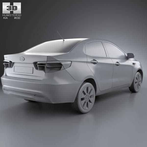 Kia Rio (K2) Sedan 2012 3D model - Humster3D: http://humster3d.com/2012/08/17/kia-rio-k2-sedan-2012/
