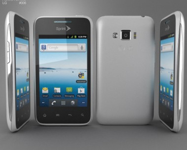 3D model of LG Optimus Elite