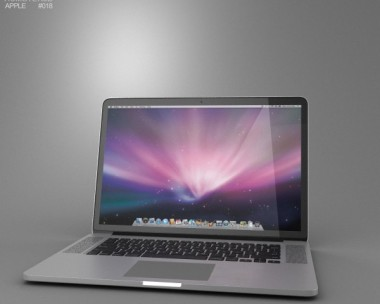 3D model of Apple MacBook Pro with Retina display 15 inch