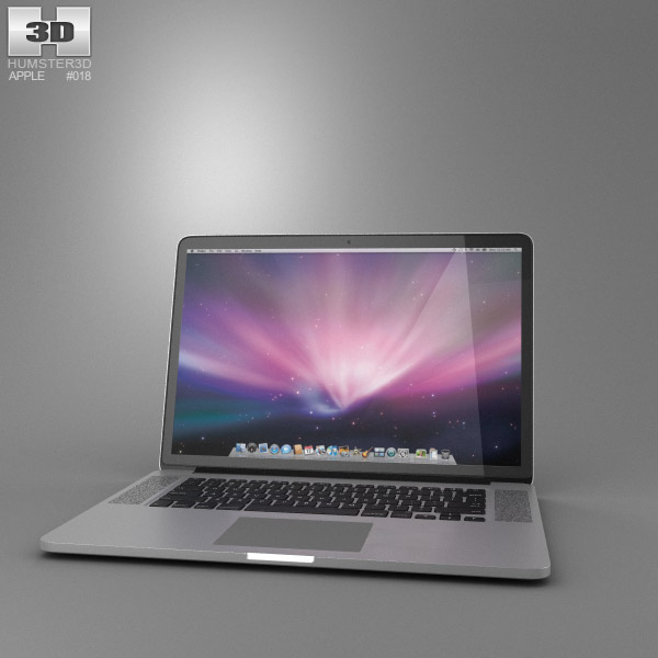 Apple MacBook Pro with Retina display 15 inch display 3d model