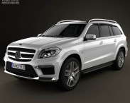 3D model of Mercedes-Benz GL-Class X166 AMG 2013