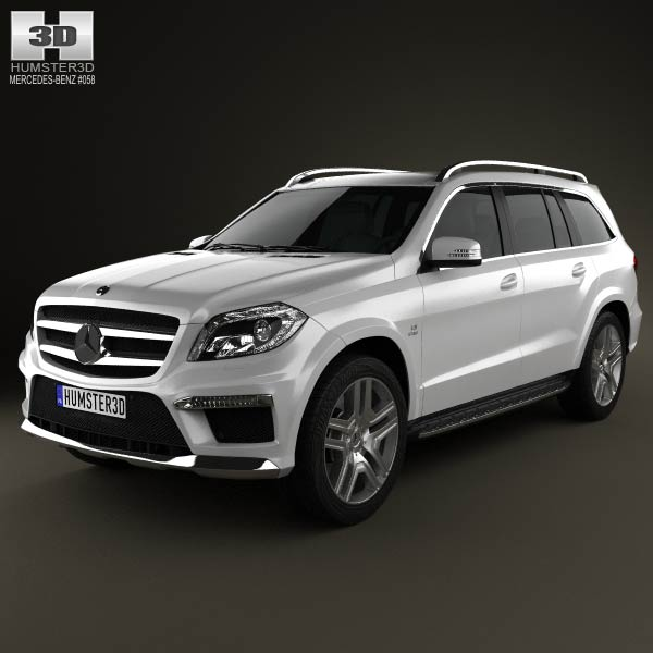 Mercedes-Benz GL-Class X166 AMG 2013 3d car model