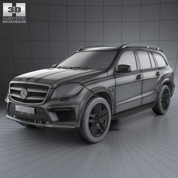 Mercedes benz gl class x166 amg 2013 3d model humster3d for Mercedes benz gl450 parts catalog