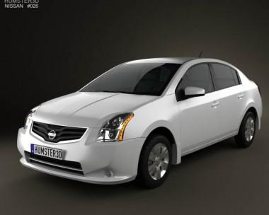 3D model of Nissan Sentra 2012
