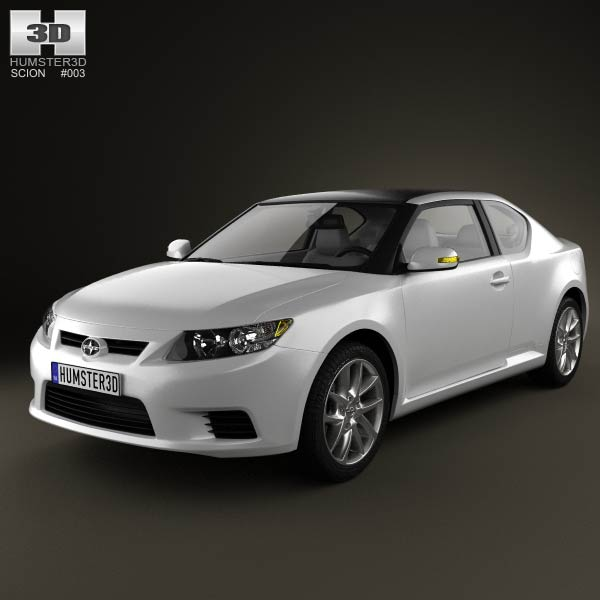 Scion tC 2012 3d car model