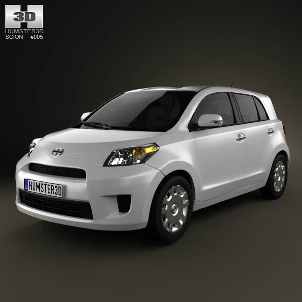 Scion xD 2012 3d car model