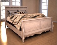 3D model of Ashley Silverglade Queen Sleigh Bed