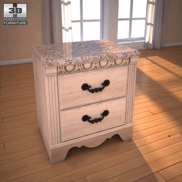 Ashley Silverglade Nightstand 3d model