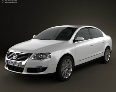 3D model of Volkswagen Passat B6 2005