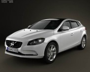 3D model of Volvo V40 2013