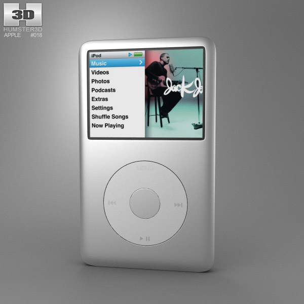 Apple iPod Classic 3d model