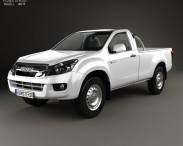 3D model of Isuzu D-Max Single Cab 2012