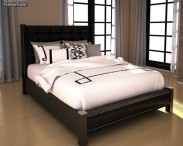 3D model of Ashley Diana Queen Upholstered Headboard Bed
