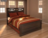 3D model of Ashley X-cess Queen Panel Bed