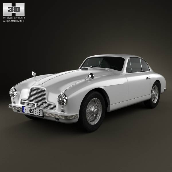 Aston Martin DB2 1950 3d car model