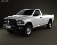3D model of Dodge Ram 2500 Regular Cab ST 6-foot 4-inch Box 2012