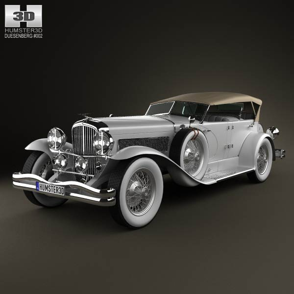 Duesenberg SJ Phaeton LWB LaGrande 1935 3d car model