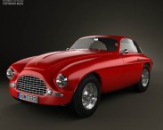 3D model of Ferrari 166 Inter Berlinetta 1950
