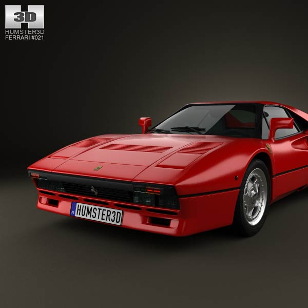 Ferrari 288 GTO 1984 3D Model download (3ds max, obj formats ...
