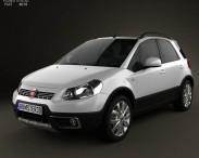 3D model of Fiat Sedici 2010