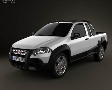 3D model of Fiat Strada Crew Cab Adventure 2012