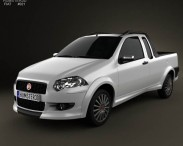 3D model of Fiat Strada Crew Cab Sporting 2012