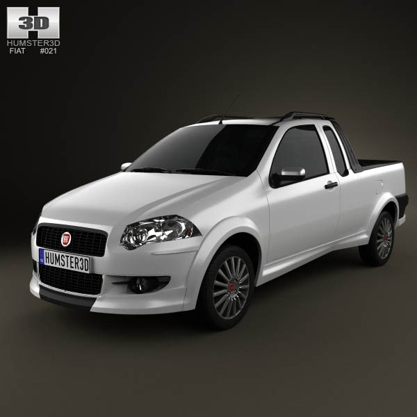 Fiat Strada Crew Cab Sporting 2012 3d car model