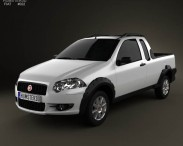3D model of Fiat Strada Crew Cab Trekking 2012