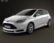 3D model of Ford Focus ST 2012