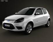 3D model of Ford Ka (Brazil) 2012