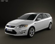 3D model of Ford Mondeo wagon 2011