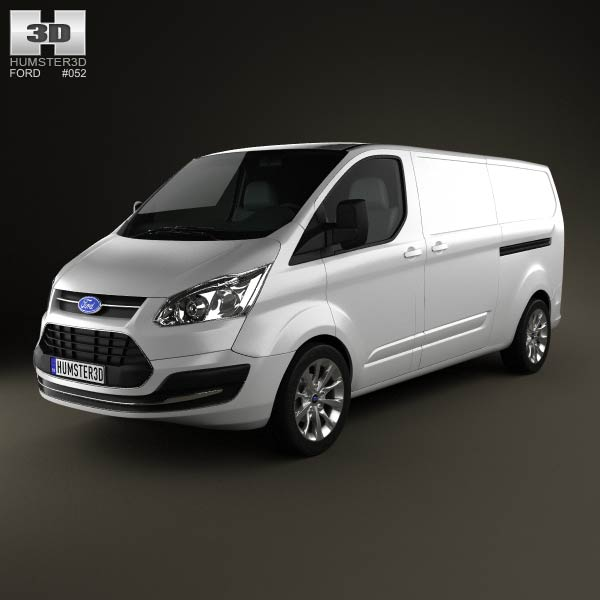 Ford Transit Custom LWB 2012 3d car model