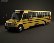 3D model of Thomas Saf-T-Liner C2 School Bus 2012
