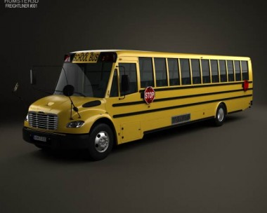 3D model of Thomas Saf-T-Liner C2 School Bus 2012