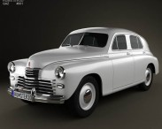 3D model of GAZ M20 Pobeda 1946