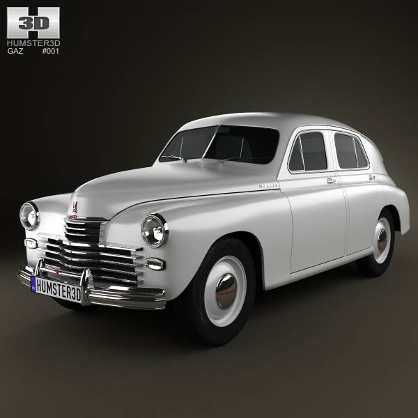 GAZ M20 Pobeda 1946 3d car model