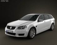 3D model of Holden VE Commodore Sportwagon 2012