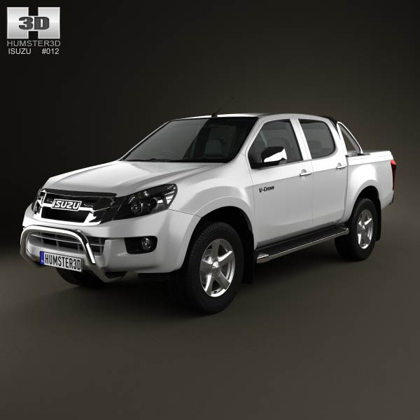Isuzu D-Max Double Cab 2012 3d car model