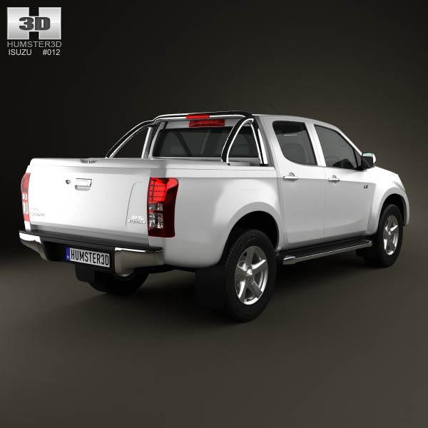 isuzu d max double cab 2012 3d model humster3d. Black Bedroom Furniture Sets. Home Design Ideas